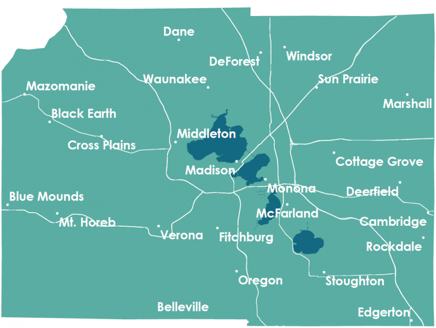 Dane County Map