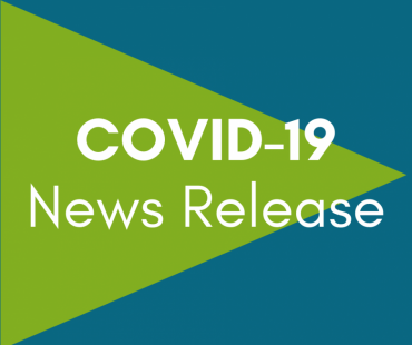 """Graphic that says """"COVID-19 News Release"""""""