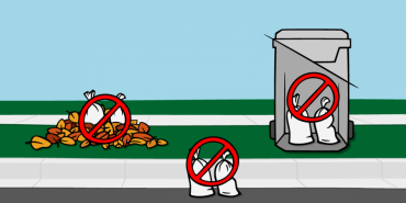 Place sandbags on the terrace or road edge for pickup. Not in leaf piles & not in collection carts.
